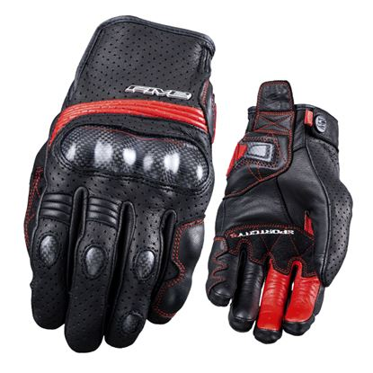 Picture of FIVE Sport City Carbon Gloves Black Red